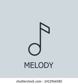 Outline melody vector icon. Melody illustration for web, mobile apps, design. Melody vector symbol.