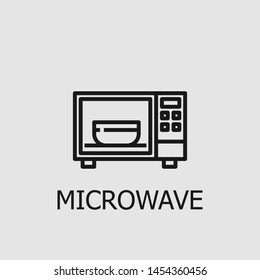 Outline microwave vector icon. Microwave illustration for web, mobile apps, design. Microwave vector symbol.