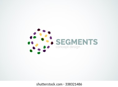 Outline minimal abstract geometric logo, linear business icon made of line  segments, elements. e4dc04532d8d