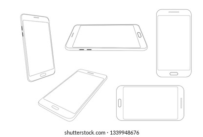 Outline modern smartphone