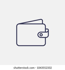 Outline money wallet icon illustration vector symbol