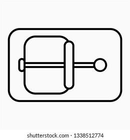 Outline mousetrap vector icon