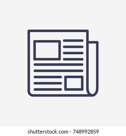 Outline news paper  icon illustration vector symbol