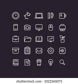 Outline Office Icons