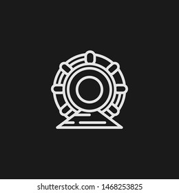 Outline particle accelerator vector icon. Particle accelerator illustration for web, mobile apps, design. Particle accelerator vector symbol.