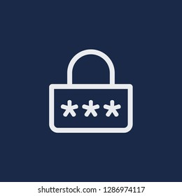 Outline password vector icon. Password illustration for web, mobile apps, design. Password vector symbol.