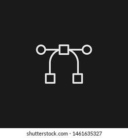 Outline pen vector icon. Pen illustration for web, mobile apps, design. Pen vector symbol.