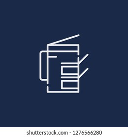 Outline photocopier vector icon. Photocopier illustration for web, mobile apps, design. Photocopier vector symbol.