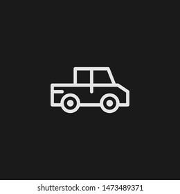 Outline pickup vector icon. Pickup illustration for web, mobile apps, design. Pickup vector symbol.