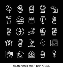 Blueprint ireland images stock photos vectors shutterstock outline plant icon set such as greenhouse clover plant growth fern malvernweather