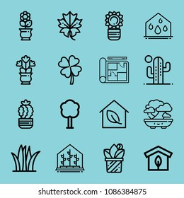 Blueprint ireland images stock photos vectors shutterstock outline plant icon set such as greenhouse clover grass bonsai blueprint malvernweather