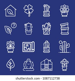 Blueprint ireland images stock photos vectors shutterstock outline plant icon set such as leaf greenhouse clover leaves cactus malvernweather