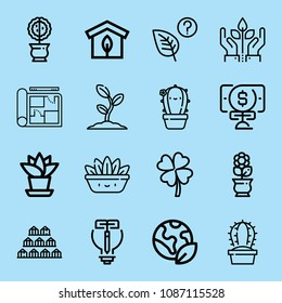 Blueprint ireland images stock photos vectors shutterstock outline plant icon set such as growth leaf greenhouse planet earth clover malvernweather Images