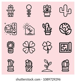 Blueprint ireland images stock photos vectors shutterstock outline plant icon set such as greenhouse planet earth resources cactus clover malvernweather
