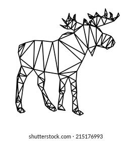 Outline polygonal abstract moose