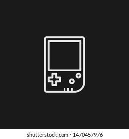 Outline portable console vector icon. Portable console illustration for web, mobile apps, design. Portable console vector symbol.