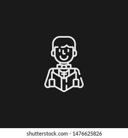 Outline priest vector icon. Priest illustration for web, mobile apps, design. Priest vector symbol.