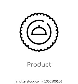 outline product vector icon. isolated black simple line element illustration from miscellaneous concept. editable vector stroke product icon on white background