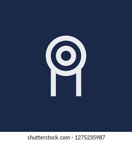 Outline pulley vector icon. Pulley illustration for web, mobile apps, design. Pulley vector symbol.