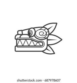 Outline Quetzalcoatl icon