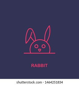 Outline rabbit icon.rabbit vector illustration. Symbol for web and mobile