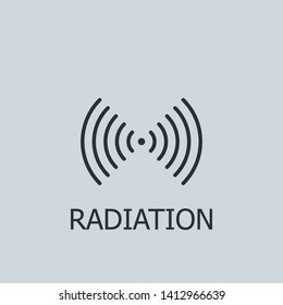 Outline radiation vector icon. Radiation illustration for web, mobile apps, design. Radiation vector symbol.