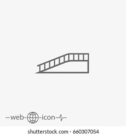 outline ramp vector icon