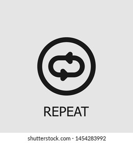 Outline repeat vector icon. Repeat illustration for web, mobile apps, design. Repeat vector symbol.
