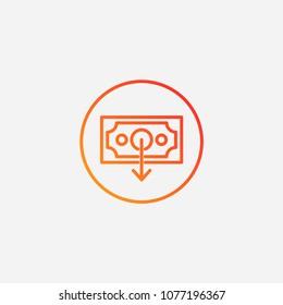 Outline request money icon.gradient illustration  vector sign symbol
