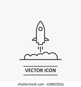 Outline  rocket boost  icon illustration vector symbol