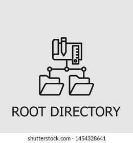 Outline root directory vector icon. Root directory illustration for web, mobile apps, design. Root directory vector symbol.