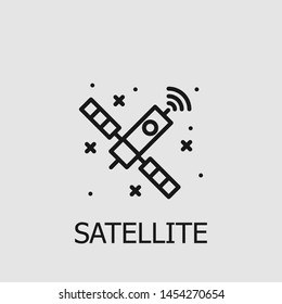 Outline satellite vector icon. Satellite illustration for web, mobile apps, design. Satellite vector symbol.