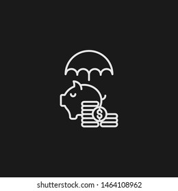 Outline savings vector icon. Savings illustration for web, mobile apps, design. Savings vector symbol.