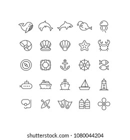 Outline Sea Icons