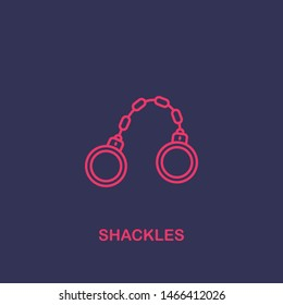 Outline shackles icon.shackles vector illustration. Symbol for web and mobile