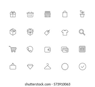 Outline Shopping Icons