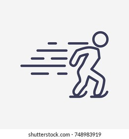Outline skate icon illustration vector symbol
