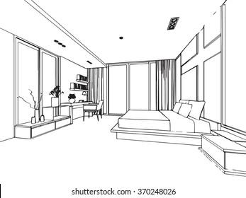 Sketch of a Bedroom Images, Stock Photos \u0026 Vectors