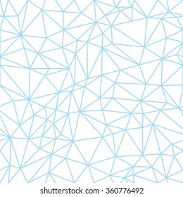 outline sky blue polygon seamless pattern in one detail only