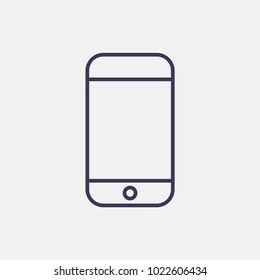 Outline smartphone icon illustration vector symbol