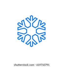bold line snowflake design concept stock vector royalty free