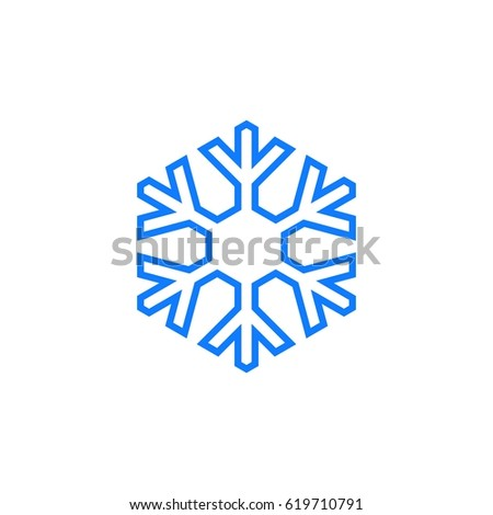 outline snowflake design template stock vector royalty free