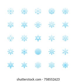 Outline Snowflake Icons