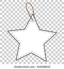 Outline Star Tag