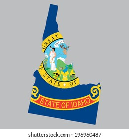 Outline of the State of Idaho