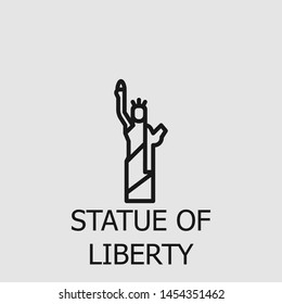 Outline statue of liberty vector icon. Statue of liberty illustration for web, mobile apps, design. Statue of liberty vector symbol.