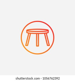 Outline stool icon.gradient illustration isolated vector sign symbol