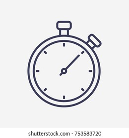 Outline stopwatch icon illustration vector symbol