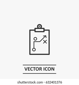 Outline strategy  icon illustration vector symbol