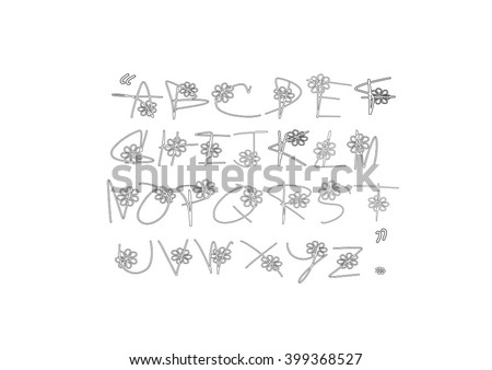 outline style script hand writing vector stock vector royalty free